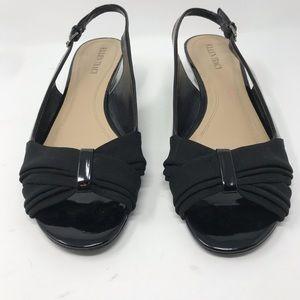 Ellen Tracy Black Slingback Open Toe Heel Size 10